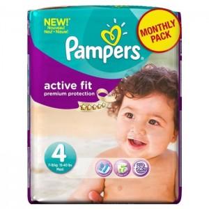 Pampers couches b b active fit 4 7 18 kg age 4 - Combien coute un paquet de couche pampers ...