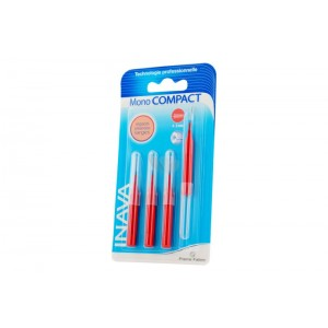 Inava - Brossettes Interdentaires - Rouge - Mono Compact - 4-3mm