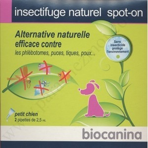 Insectifuge Naturel - Spot-On - Biocanina - Petits Chiens - bte 2