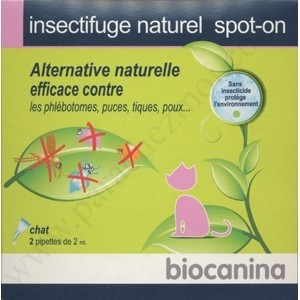 Insectifuge Naturel - Spot-On - Biocanina - Chats - bte 2